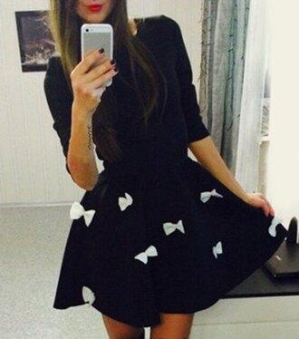 dress bow fashion cute girly bow dress thanksgiving