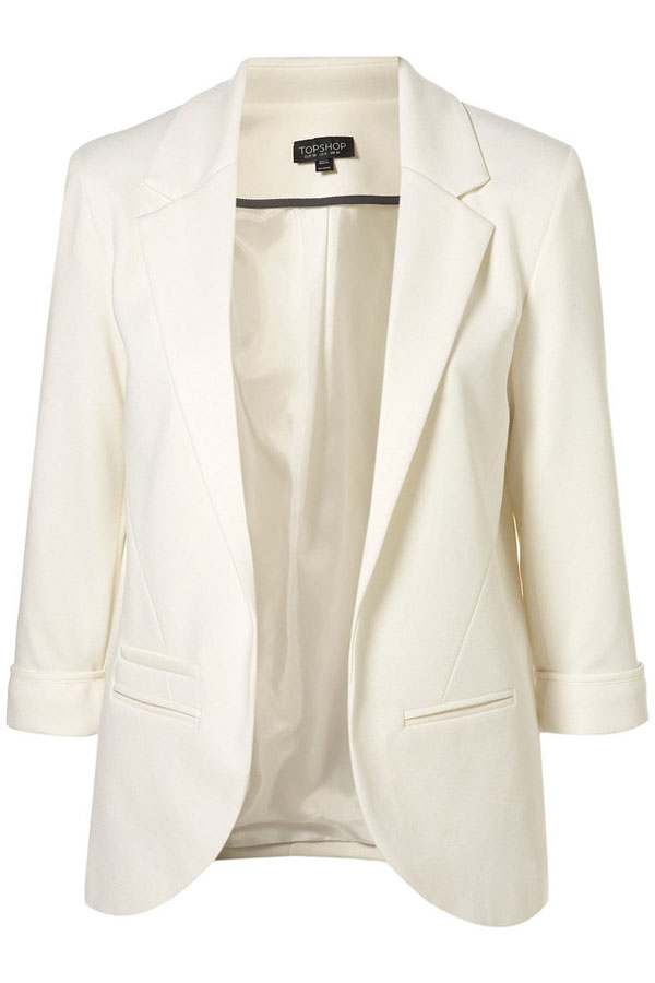 Casual Thicken Turndown Collar Long Sleeves White Women Suit_Blazer&Suits_Womens Clothing_Cheap Clothes,Cheap Shoes Online,Wholesale Shoes,Clothing On lovelywholesale.com - LovelyWholesale.com