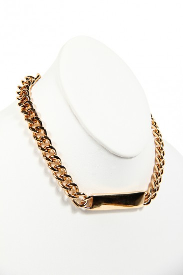 LoveMelrose.com From Harry & Molly | THIN PLATED CHAIN NECKLACE - GOLD