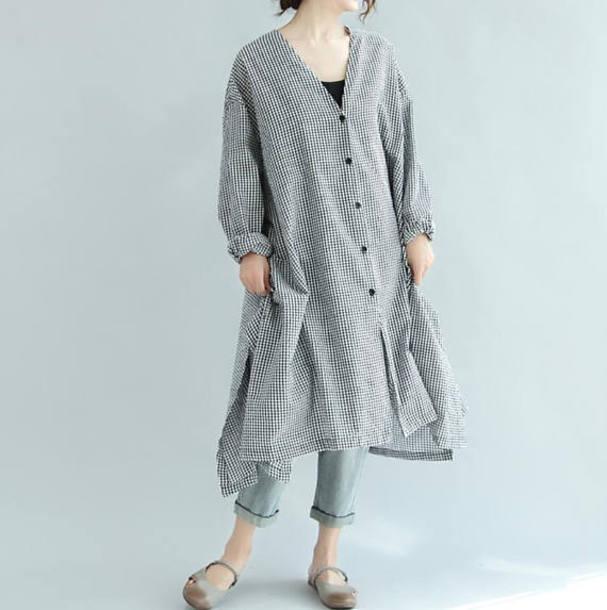 shirt long lattice shirt dress