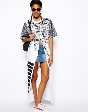 Puma for asos split front maxi tee dress at asos