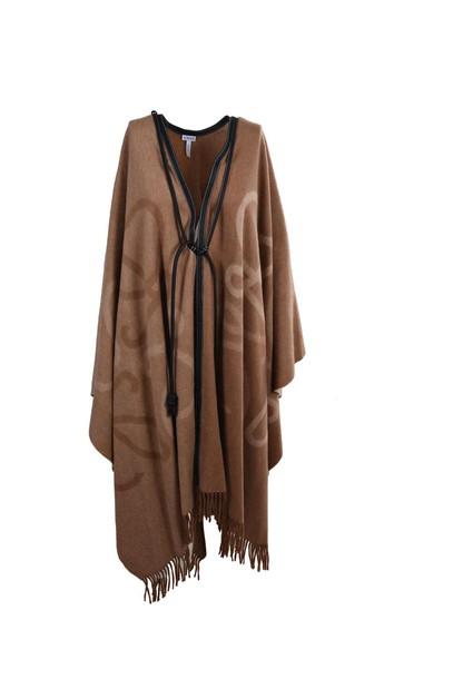 LOEWE cape light brown top