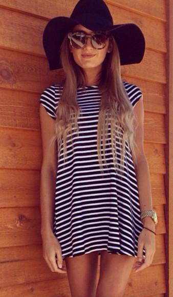 shirt dress stripes simple