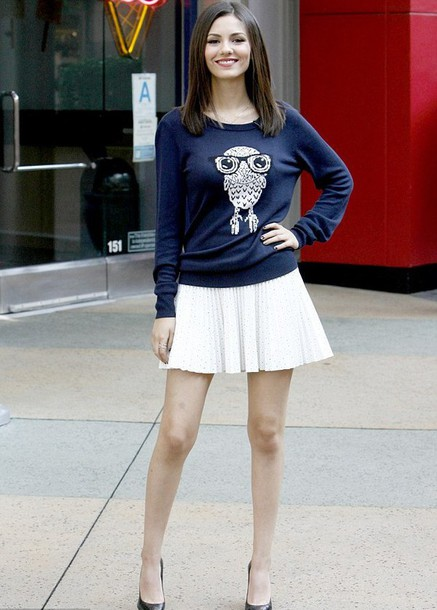sweater owl sweater victoria justice
