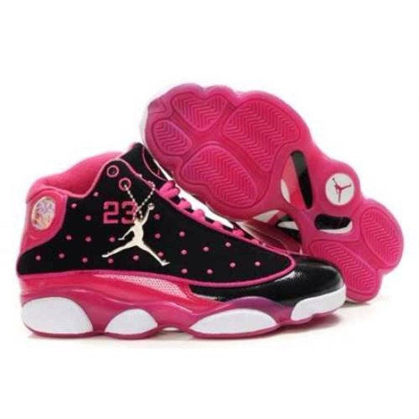 shoes jordans pink black