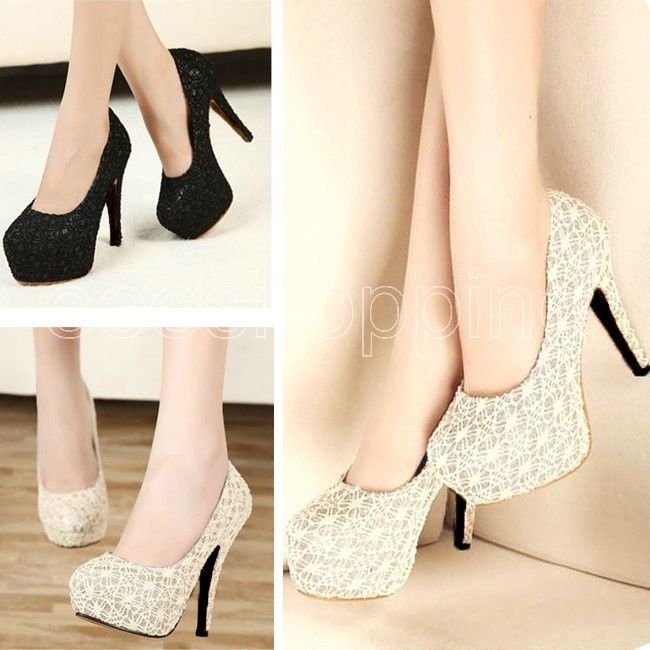 Sexy Women Lady High Heels Pumps Stiletto Platform Party Wedding Waterproo Shoes | eBay