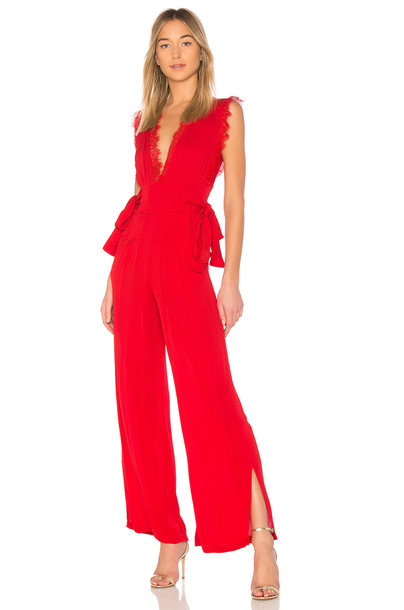 Free People jumpsuit red