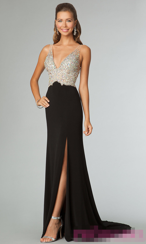 black evening dresses 2014 long prom dresses