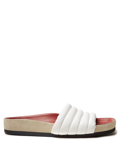 Isabel Marant quilted leather white shoes