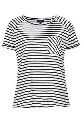 Stripe Raglan Tee - Tops - Clothing - Topshop