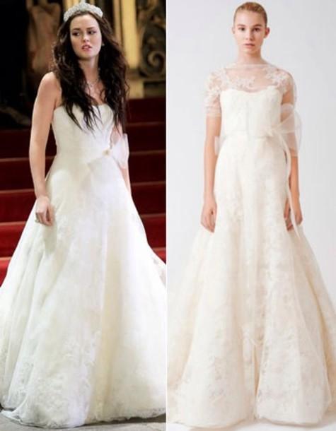 dress, blair waldorf, gossip girl, gossip girl blair dress, wedding ...