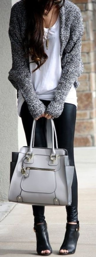 bag cardigan grey sweater gray cardigan grey top melange thick sweater baggy cardigan