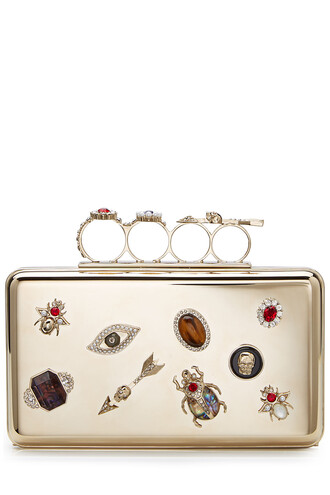 embellished clutch gold bag