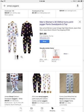 jumpsuit emoji pants