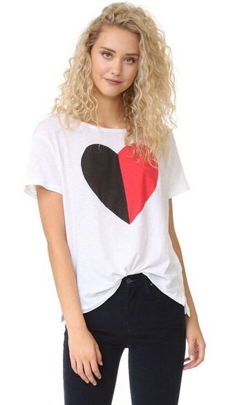 loose heart white top