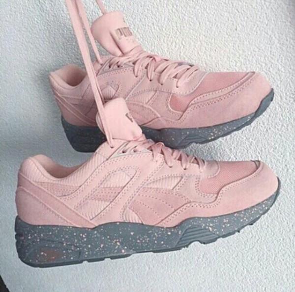 shoes pink spots puma sneakers love suede sneakers pink sneakers
