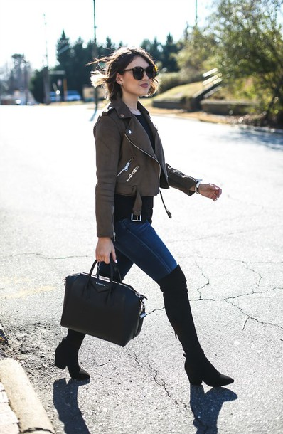 e8c72deba7d life   messy hair blogger jacket tank top shoes jeans bag sunglasses brown jacket  cropped jacket