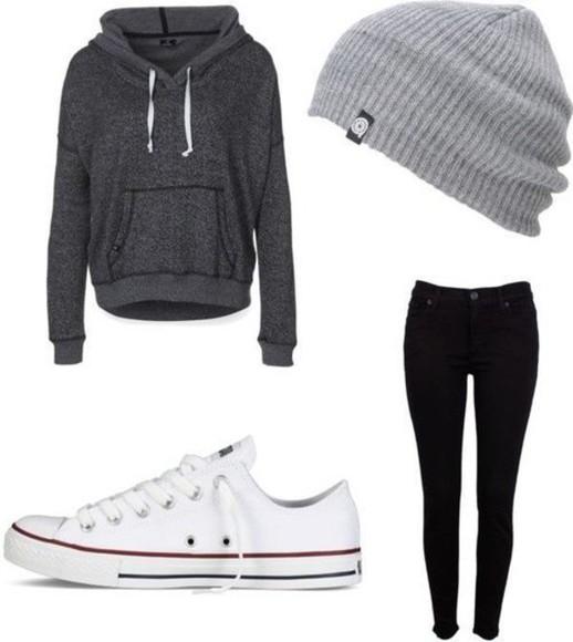 beanie grey sweater sweater winter sweater grey sweatshirt hat jacket grey beanie