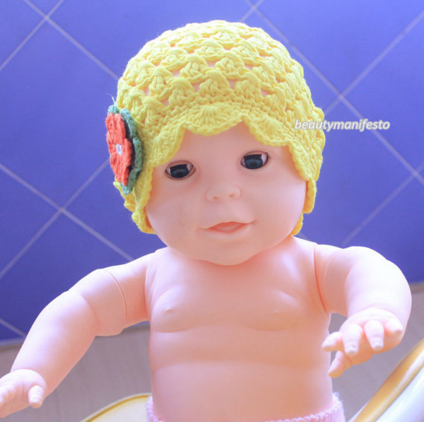 baby children accessories baby girl hat newborn hat flower hat girl hat yellow beanie newborn girl hat crochet baby hat newborn photo prop knit baby hat toddler girl hat crochet