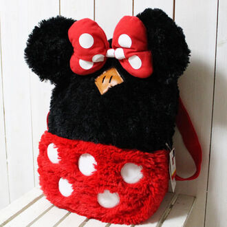 bag kawaii cute backpack minnie mouse fluffy colorful disney