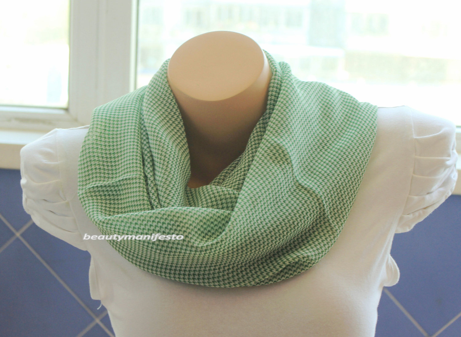how to make a cotton infinity scarf
