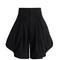High-waist cotton-blend shorts