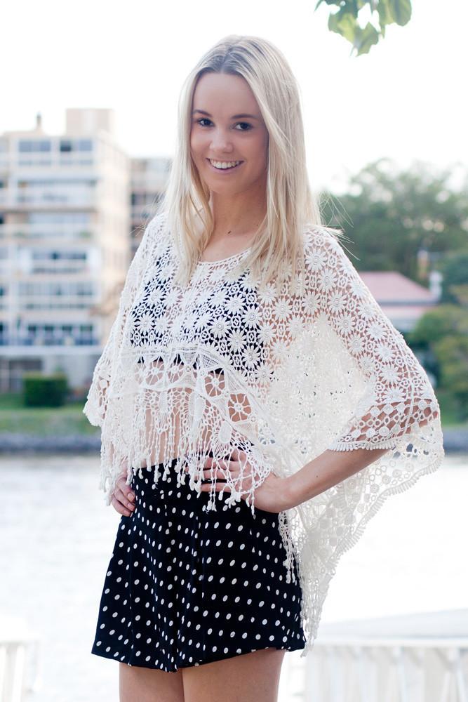 Crochet Fringe Poncho – Shop Fashion Avenue