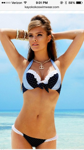 swimwear polka dots bikini push up swimwear