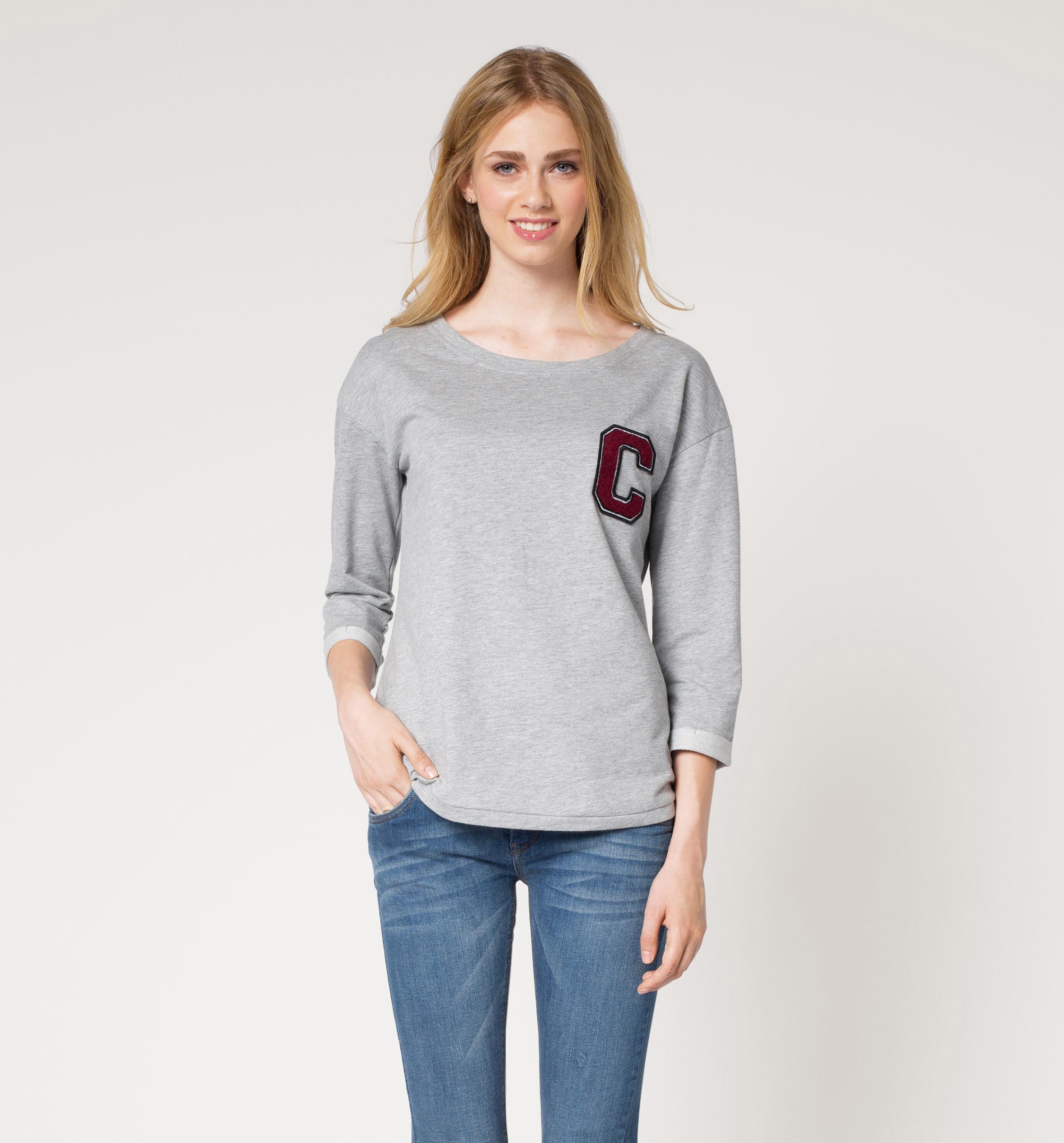 Sweatshirt in hellgrau - Damen {category.name} günstig. Inspiriert vom Leben - C&A