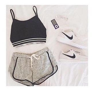 shorts grey gray workout