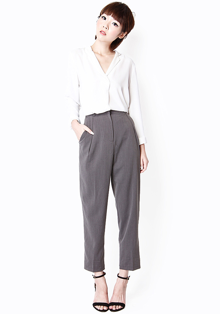 LUCKY STRIKE CIGARETTE TROUSERS IN SUIT GREY