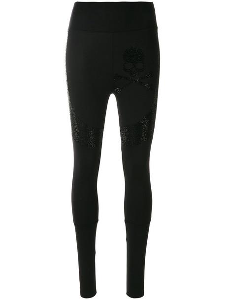 PHILIPP PLEIN leggings high women sweet spandex black pants