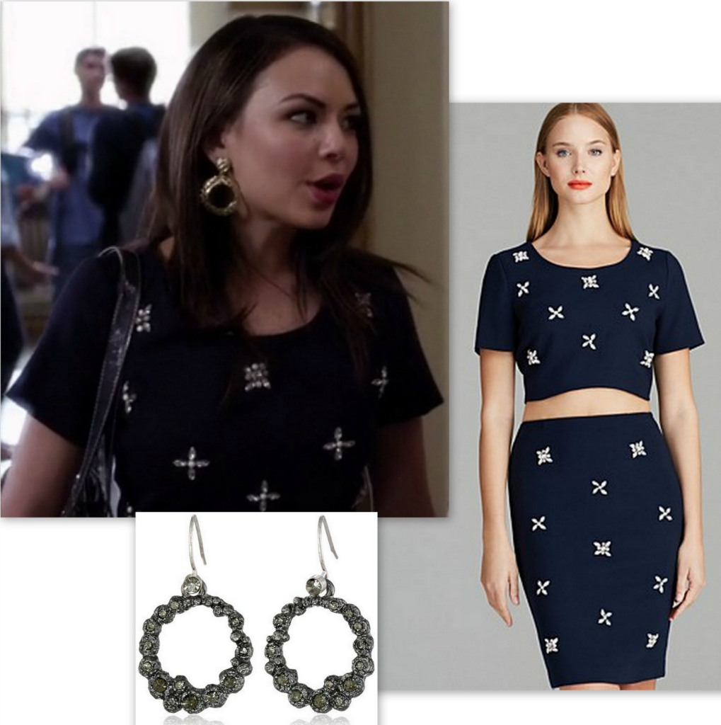 PLL - Mona's Style - Embellished Jewel Crop Top