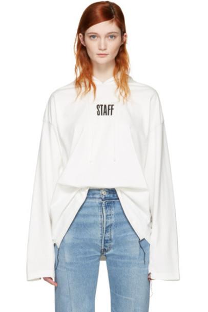 Vetements White Hanes Edition 'Staff ' Hoodie