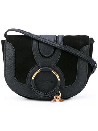 women bag suede black