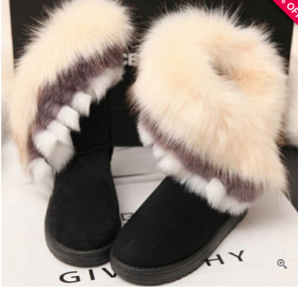 shoes boots fur winter boots