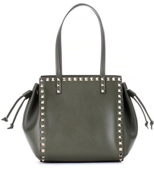 Valentino leather green bag