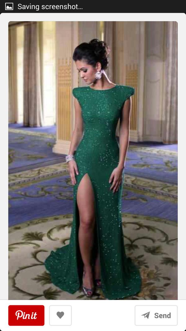 dress emerald green long prom dress prom dress sequin dress emerald green perfect dress