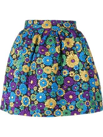 skirt mini skirt mini floral leather black