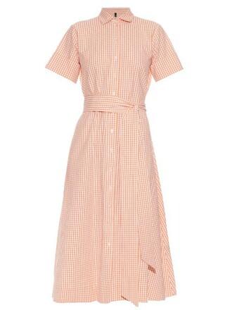 shirtdress cotton orange dress