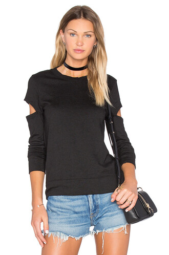 sweatshirt open black