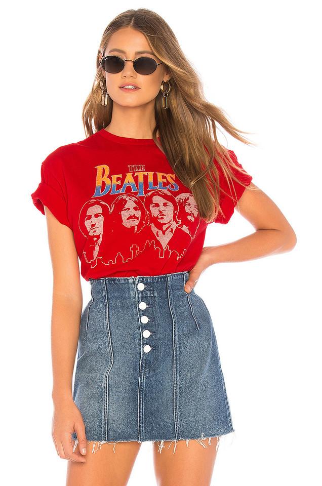 Junk Food The Beatles Tee in red