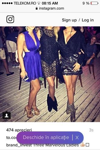dress party dress mini dress black blue