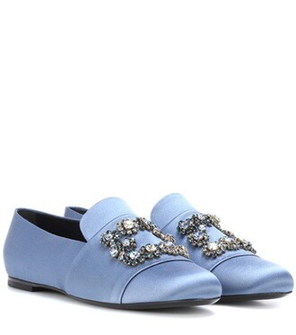 loafers satin blue shoes