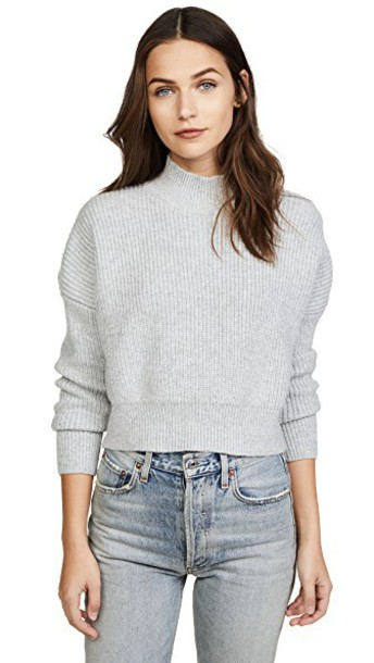 Knot Sisters sweater light grey heather grey