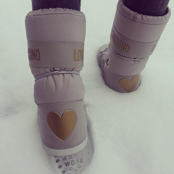 shoes love moschino moschino moschino snow boots snow boots grey love moschino