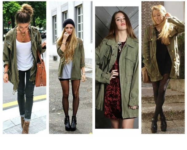 Coat: khaki coat, army green jacket, parka, olive green, army ...