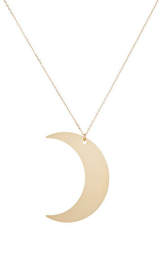 jewels crescent moon necklace gold necklace