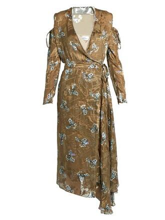 dress satin gold