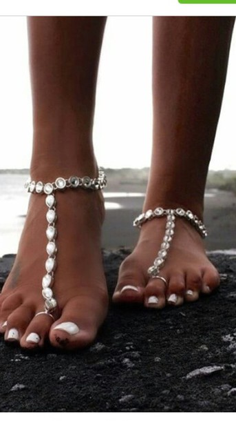 jewels jewelry girly tumblr hipster footjewelry